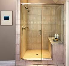 Glass Shower Door Design Ideas With Walk In Shower Ideas Plus Grey Wall For  Modern Bathroom Ideas