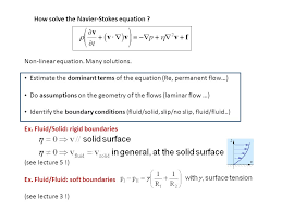 how solve the navier stokes equation non linear equation