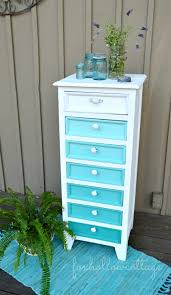 aqua ombre paint makeover painted furniture before and after