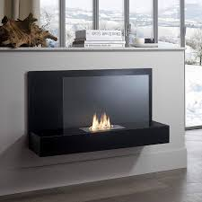 modern black portable bioethanol fireplace italian contemporary design accessories for living room interior