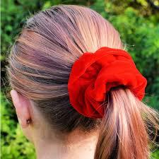 diy velvet scrunchies how to make