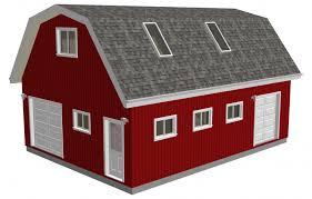 24 x 27 gambrel pole barn plans