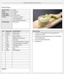 Food Recipe Template Recipe Manual Template