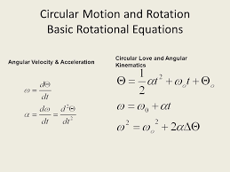 circular motion and rotation basic rotational equations
