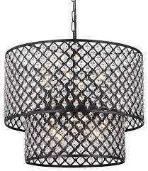 wellyer ras 8 light 2 tier drum chandelier
