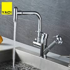 Yaci 98 Kitchen Faucets Pull Out Shower Sprayer Deck Mount Sink