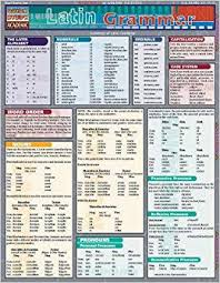 Quick Study Academic Charts Latin Grammar Quickstudy Academic Amazon Co Uk
