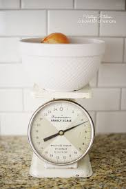 Retro Kitchen Scales Uk Adding Vintage Character To A New Kitchen A Bowl Full Of Lemons