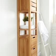 Colonne En Bambou Pour Salle De Bain