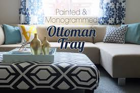 Decorating An Ottoman With Tray Big Square Ottoman Tray 16