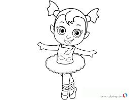 Vampirina Coloring Pages Baby Ballerina Free Printable Coloring Pages
