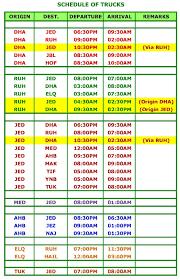 Travel Schedule Alma Express Travel Schedule
