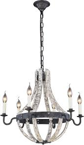 urban classic 1502d24iw woodland ivory wash steel grey 24 nbsp hanging chandelier loading zoom