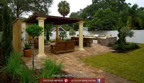 Italian Outdoor Kitchen Garden Design Garden Design With Yard Crashers Outdoor Kitchens