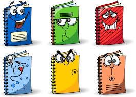 the cute cartoon books image vector