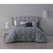corinna 5 piece light gray twin pinch pleat comforter set cna5cstwinghlg the home depot