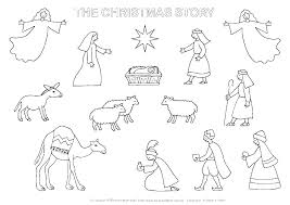 Free Printable Nativity Coloring Pages Nativity Coloring Page