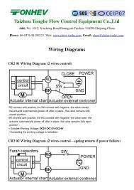 tonhe motorized valve wiring diagrams taizhou tonhe flow control