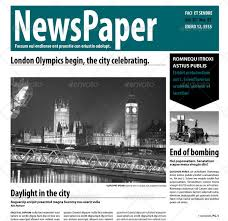 Newspaper Front Page Template Indesign 30 Best Newspaper Psd Templates