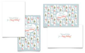 Holiday Templates Happy Holidays Greeting Card Template Word Publisher