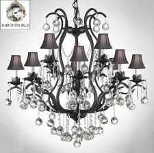 iron crystal chandelier dressed with crystal to enlarge