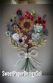 Paper Quilling Flower Bokeh Paper Quilling Art Paper Quilling Flower Bouquet Card