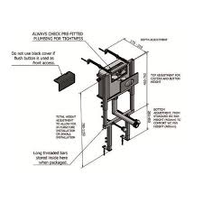 wall hung wc toilet support frame