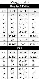 Tadashi Size Chart Described Eliza J Sizing Chart Tadashi Size Chart Dress