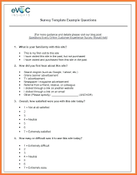 Fast Food Survey Questions Sample Restaurant Template Free Download