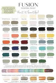 Fusion Colour Card Fusion Mineral Paint Uk