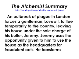 english mr rinka lesson ppt video online 20 the alchemist summary