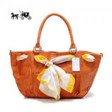 Quick View · Coach Embossed Scarf Medium Orange Totes Outlet Sale VIP Shop  ...