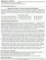 Restaurant Manager Job Description Resume Unique Valuable Restaurant