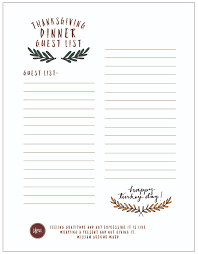 Free Printable Thanksgiving Checklist and Place Cards