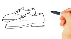 How to draw a Pair of Shoes Step by Step - YouTube