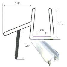 shower sweep with drip rail clear shower door sweep seal with drip rail for 3 glass