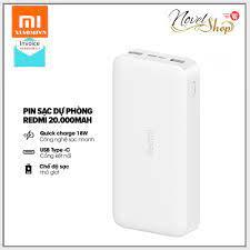 Sạc Dự Phòng Redmi Xiaomi 20000mAh - Chính Hãng - Hỗ Trợ Sạc Nhanh 18W-  Tặng Kèm Cáp Sạc giá cạnh tranh