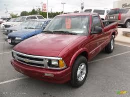 1996 Medium Red Metallic Chevrolet S10 LS Regular Cab 4x4 ...