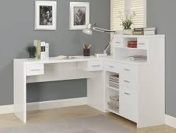 white corner office desk. Country Corner Office Desk : With Shelves And . White