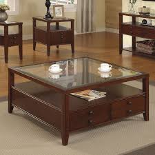 accent tables large square coffee table glass top table material 4 storage drawers 4 legs wood