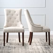 belham living thomas tufted tweed dining chairs set of 2 versatile go anywhere design doesn t have to be boring design case in point the thomas