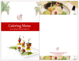 Catering Menu Templates Free Catering Menu Template 768x595 Flyers And Brochures Pinterest