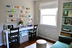 playroom office ideas. We Did Our Best To Squeeze In As Much Function Could, From The Shallow DIY Desk And Magnetic Wallflowers Under Window A Ton Of Shelves Playroom Office Ideas E