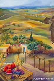 Asher from the 12 Tribes of Israel landscape paintings by Lesley ...