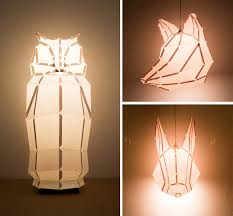 DIY Foldable Paper Animal Lights by MostLikely