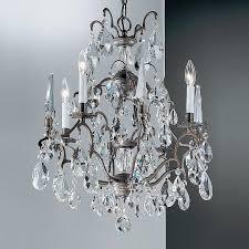 modern bronze crystal chandelier