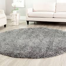 california shag dark gray 4 ft x 4 ft round area rug california shag black 4 ft