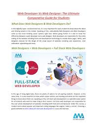 Web Designer Salary In Hyderabad Web Developer Vs Web Designer The Ultimate Comparative