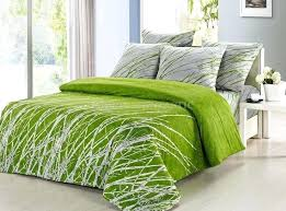 green duvet cover king green bed covers home cotton leaf bedding set sheets embroidered green super