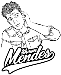 Shawn Mendes Coloring Page By Topcoloringpagesnet Celebrities In